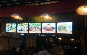 LED food sign
