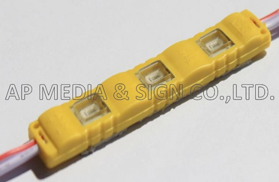 MC1-5730-3-Y // 3-LED Module 5730, Samsung Chip, Yellow Color